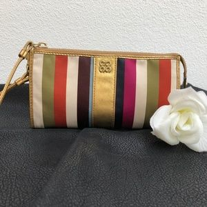 Coach Julia Legacy Stripe Sateen Wallet/Wristlet